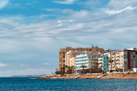Residential buildings on the coast Torrevieja. Spain