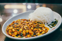 kungpao chicken rice topping in china