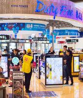 Duty free shop airport. Thailand