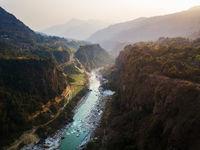 Kali Gandaki river in Kusma, Nepal