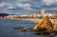 Lloret de Mar on Costa Brava in Spain
