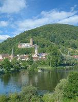 Blick auf Gemuenden am Main,Spessart,Bayern,Deutschland