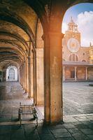 The arcade near the fish market in Venice