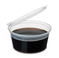 Disposable dipping cup of soy sause