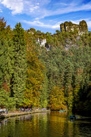Amselsee in the Saxon Switzerland National Park