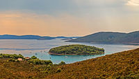 Blick von der kroatischen Insel Molat auf die Adria