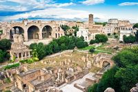 Ancient ruins of the Forum in Rome