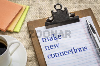make new connections