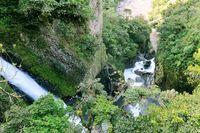 Wasserfall Pailon del Diablo Banos in Ecuador
