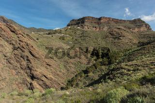 Landschaft mit Gebirge in Tejeda, Spanien