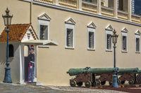 Guard In Sentry Box Royal Palace Monte Carlo Monaco