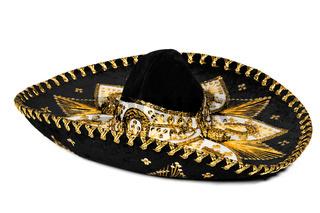 Black sombrero isolated