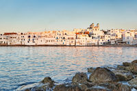 The village of Naousa in Paros, Greece