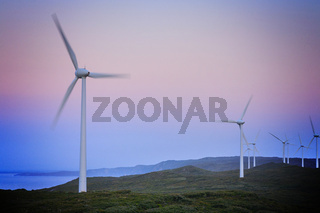 Wind Turbines before Dawn, Albany Wind Farn, Western Australia