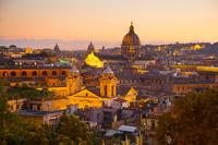 Skyline of beautiful Rome, Italy