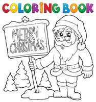 Coloring book Santa Claus thematics 3