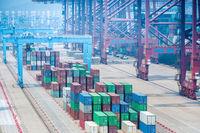 container terminal closeup