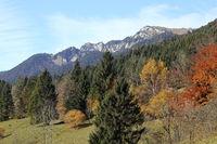 herbstliche Gebirgslandschaft in Bayern