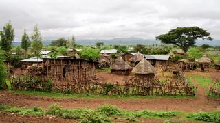 Traditional Konso tribe village Ethiopia