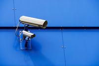 Überwachungskamera an einem Gebäude in Rostock