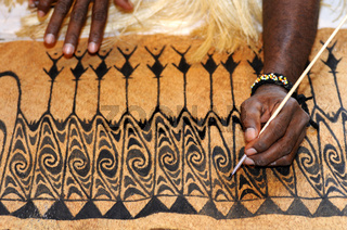Rindenmalerei, West Papua, Indonesien