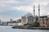 Ortakoy Mosque on the banks of the Bosphorus