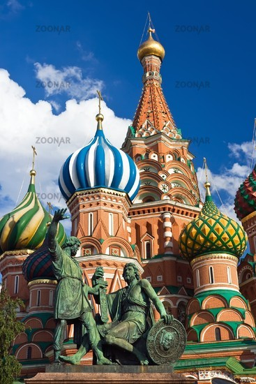 St. Basil Cathedral and Pozharsky And Minin Monument