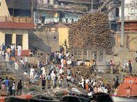 Varanasi Leichenverbrennung