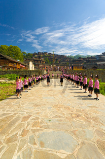 Xijiang Miao Village Festival Girls Ceremony China