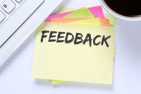 Feedback Business Kundendienst Service Meinung Bewertung Kontakt Schreibtisch