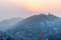 mount lushan in sunset