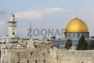 Felsendom und Klagemauer, Jerusalem, Israel, Dom of the Rock and Western Wall, Jerusalem, Israel