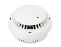Isolated white smoke detector