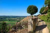 Village Domme with view on Dordogne