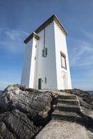 Leuchtturm bei Port Ellen auf der Landspitze Carraig Fhada, Isle of Islay