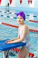 Girl in purple rubber hat