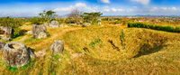 The Plain of jars. Laos. Panorama