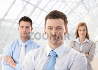 Portrait of confident businessteam