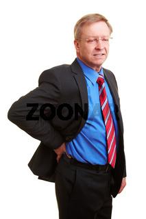 Mann mit Nierenschmerzen
