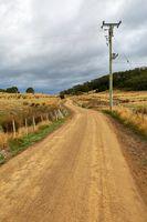 Dirtroad through farmlands