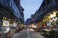restaurant street near central market of xiamen city china