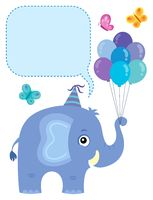 Elephant with copyspace theme 3