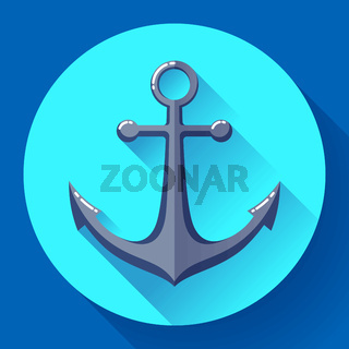 Anchor text icon, vector illustration. Flat design style.