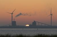 Sonnenuntergang über der Holländischen Küste