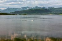 Mountain view and fjord in Molde, Norway