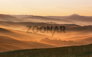 Hilly landscape of Tuscany