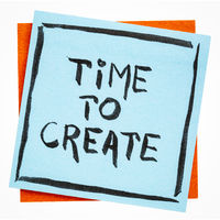 time to create inspirational note