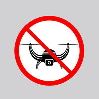 Stop Airdrone Allowed Sign. Photo and Video Air Drone Icon