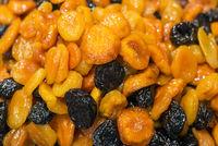 honey glazed dried apricot and prune fruit mix