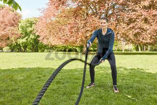 Functional Fitnesstraining mit Battle Rope